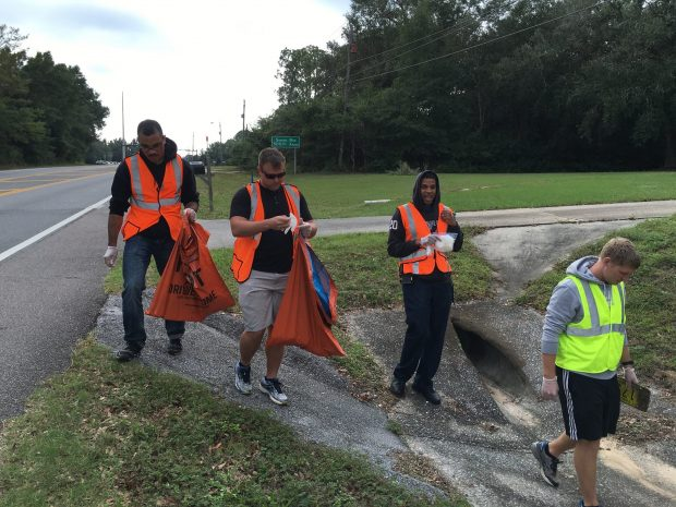 Pensacola Young Professionals help clean Bluffs