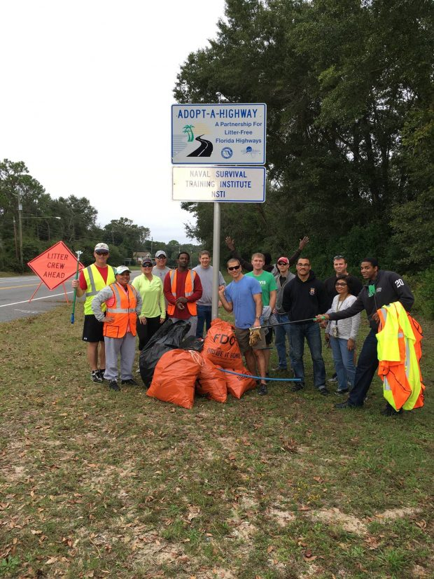 The Navy Adopt-A-Highway on Scenic Highway